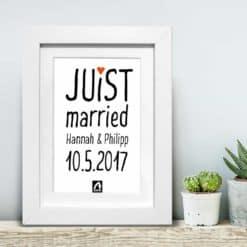 Bilderrahmen Juist married