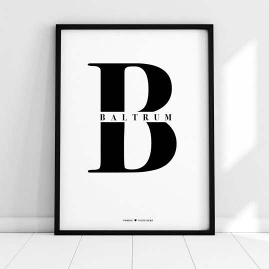 NORDIG Poster Baltrum Lettering