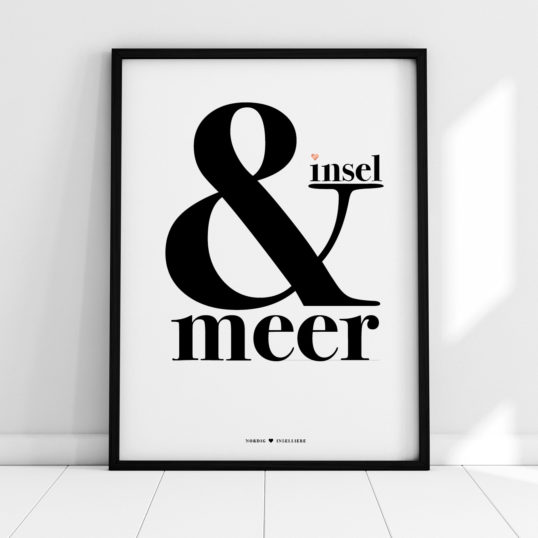NORDIG Poster insel & meer Lettering