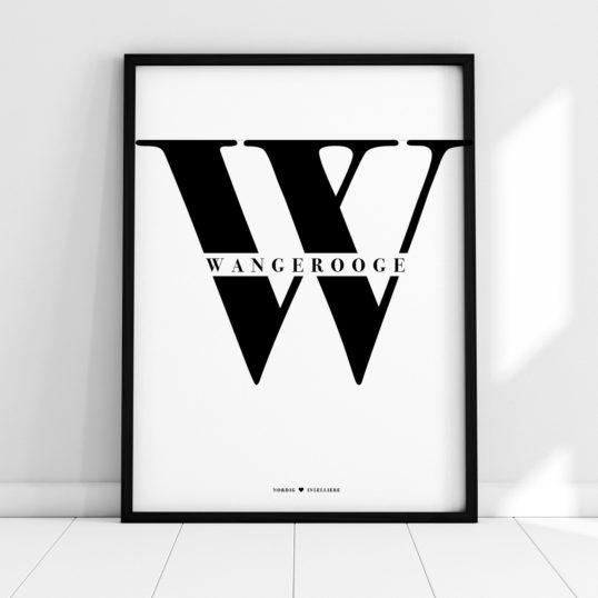 NORDIG Poster Wangerooge Lettering