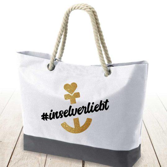 Strandtasche Ankerplatz #inselverliebt